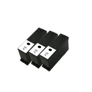 150 – 3 Cartouches D'encre équivalent LEXMARK 150 Compatible NOIR XL