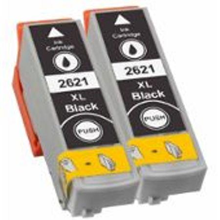 """2621-2 Cartouches d'encre équivalent EPSON T2621XL compatible """"série ours polaire"""" NOIR XL"""
