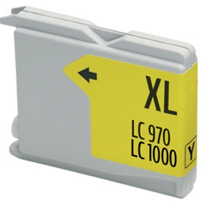Cartouche D'encre Compatible Brother LC-970Y – LC970 – Jaune
