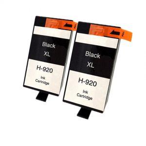 920 – 2 Cartouches D'encre équivalent HP-920XL-CD975AE Compatible (HP920) NOIR XL