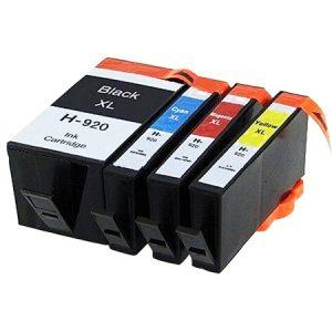 920 – Cartouche D'encre équivalent HP-920 Compatible (HP920) Pack 4 Couleurs XL