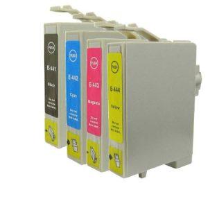 0445-Cartouche D'encre équivalent EPSON T0445 Compatible Pack 4 Couleurs