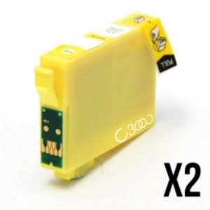 0554-2 Cartouches D'encre équivalents EPSON T0554 Compatible «série Cannard» JAUNE