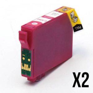 1293-2 Cartouches D'encre équivalents EPSON T1293 Compatible «Pomme» MAGENTA