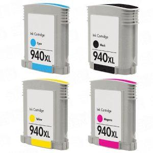940 – Cartouche D'encre équivalent HP-940XL Compatible (HP940) Pack 4 Couleurs