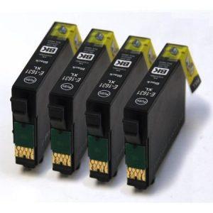 1631-Cartouches D'encre X 4 équivalent EPSON T1631 Compatible NOIR XL