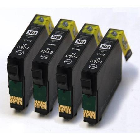 4 Cartouches Compatibles Epson T1631 – Stylo Plume – Noir XL