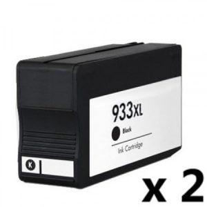 932 – 2 Cartouches D'encre équivalent HP-932XL-CN053AE Compatible (HP932) NOIR XL