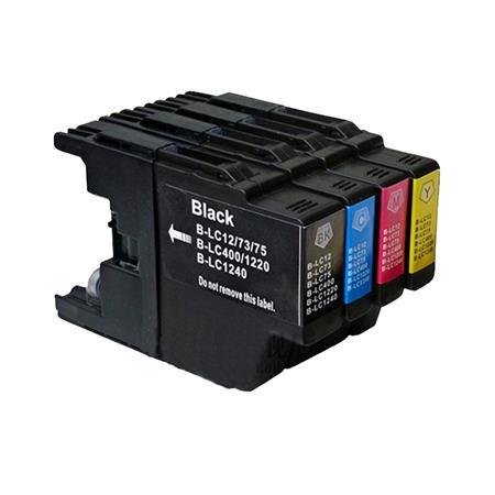 1240 - Cartouche d'encre compatible équivalent BROTHER LC-1240 (LC1240) Pack 4 couleurs