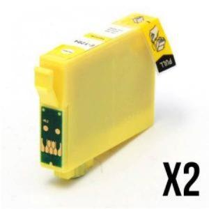 1284 –  2 Cartouches D'encre Compatibles équivalent EPSON T1284 «série Renard»  JAUNE