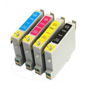 0615-Cartouche D'encre équivalent EPSON T0615 Compatible  «série Ourson »  PACK  4 Cartouches