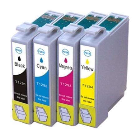 Cartouche D'encre Compatible Epson T1295 – Pomme – 4 Couleurs