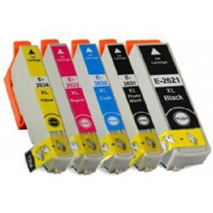 2636 – Cartouche D'encre équivalent EPSON T2636 XL Compatible PACK 5 CARTOUCHES XL