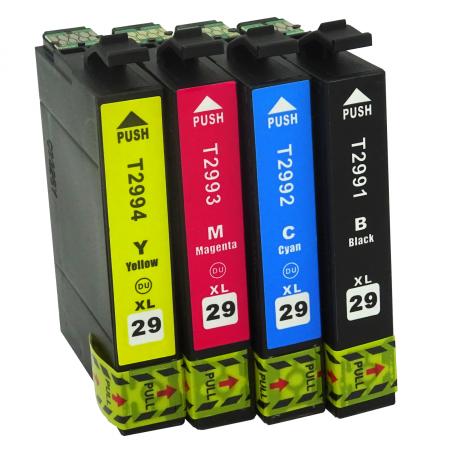 """2996-Cartouche d'encre équivalent EPSON T2996 compatible """"série Fraise"""" Pack 4 couleurs"""