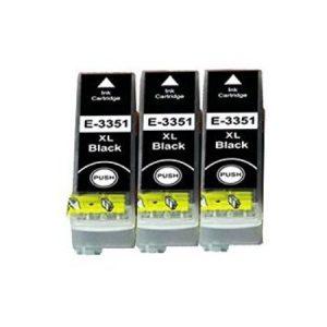 3351-Cartouches D'encre X 3 équivalent EPSON T3351 Compatible «Orange»  NOIR XL