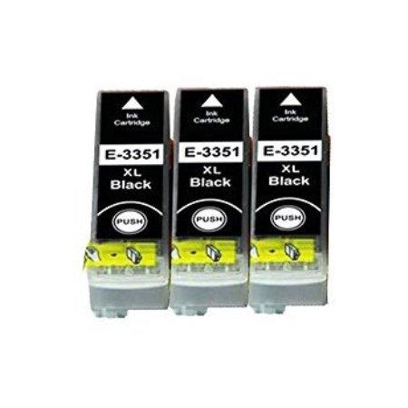 3351 – 3 Cartouches D'encre Compatibles Epson T3351 – Orange – Noir XL