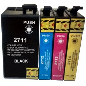 2715-Cartouche D'encre équivalent EPSON T2715 XL Compatible PACK 4 CARTOUCHES