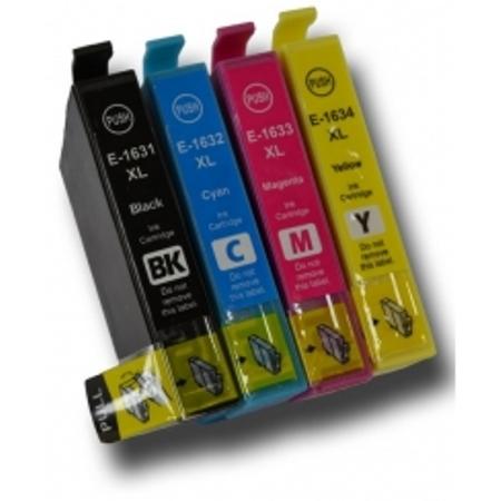 Cartouche D'encre Compatible Epson T1636 – Stylo Plume – 4 Couleurs XL