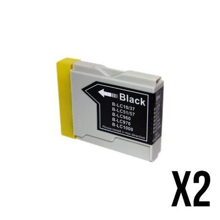 970/1000- 2 Cartouches d'encre équivalent BROTHER LC-970/1000 compatible (LC1000 LC970) NOIR
