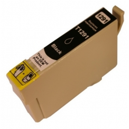 """1291-Cartouche d'encre équivalent EPSON T1291 compatible """"Pomme"""" NOIR"""