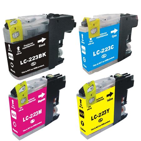 223 - Cartouche d'encre compatible équivalent BROTHER LC-223 PACK (LC223) - PACK 4 COULEURS