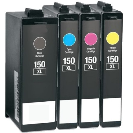 150 – Cartouche D'encre équivalent LEXMARK 150 Compatible 4 COULEURS XL