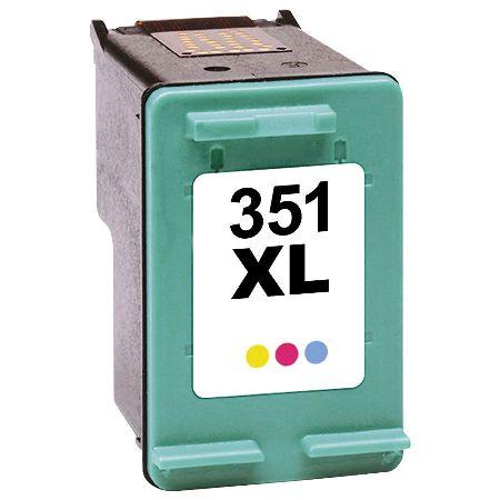 351 - Cartouche d'encre équivalent HP-351-CB338EE compatible (HP351) TRICOLOR XL