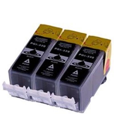 525 – 3 Cartouches D'encre équivalent CANON PGI-525 Compatibles (PGI525) NOIR