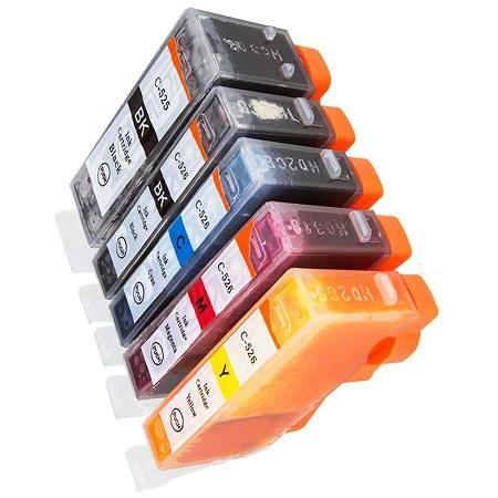 5 Cartouches Compatibles Canon PGI 525 – CLI-526 – PGI525 – CLI526