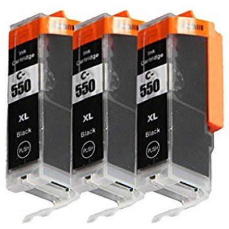 3 Cartouches D'encre Compatibles Canon PGI-550 – PGI550 – Noir XL