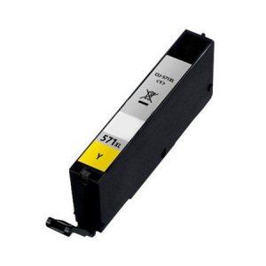 571 – Cartouche D'encre équivalent CANON CLI-571Y XL – 0334C001 Compatible (CLI571) JAUNE XL