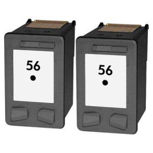 56 – Cartouche D'encre équivalent HP-56-C6656A Compatible (HP56) NOIR X 2