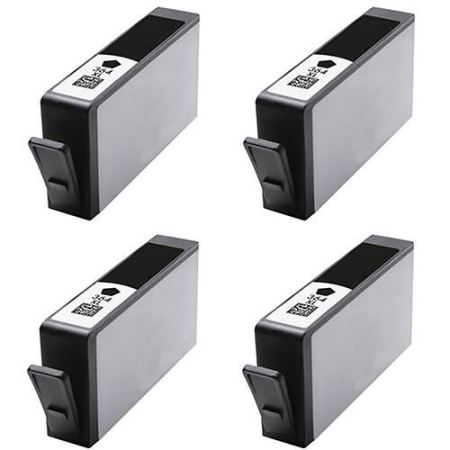 364 – 4 Cartouches Compatibles HP 364 XL – CN684EE – HP364 – Noir XL