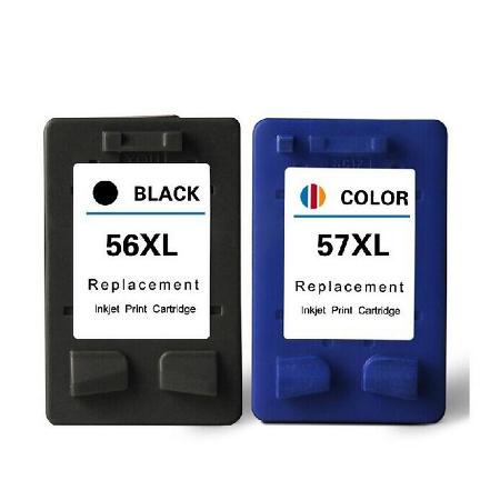 56/57– Cartouche D'encre équivalent HP-56  HP-57compatible (HP56) (HP57) NOIR Et TRICOLOR