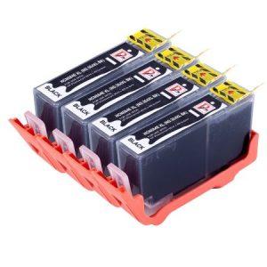 364 – 4 Cartouches D'encre équivalent HP-364XL-CN684EE Compatible (HP364) NOIR XL
