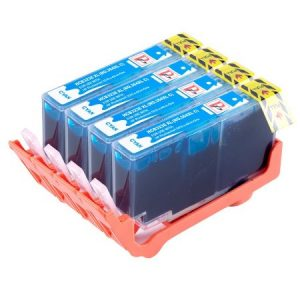 364- 4 Cartouches D'encre équivalent HP-364XL-CB323EE Compatible (HP364) CYAN XL