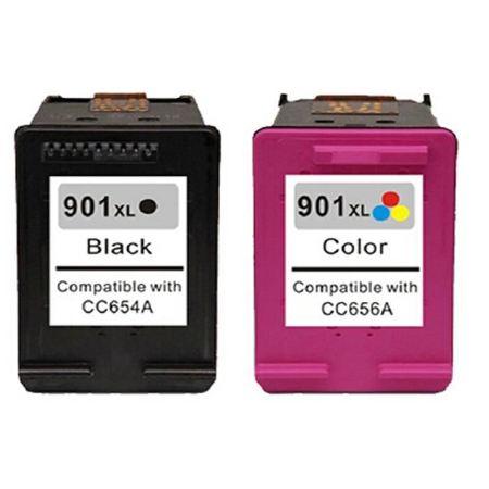 Cartouche D'encre Compatible HP 901 – HP901 – Noir Et Tricolor XL