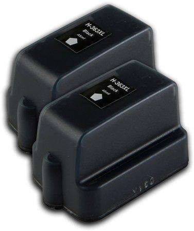 363 - 2 Cartouches d'encre équivalent HP-363-C8721 compatible (HP363) NOIR