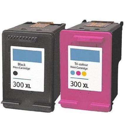300 - Cartouche d'encre équivalent HP-300 compatible (HP300) NOIR et TRICOLOR XL