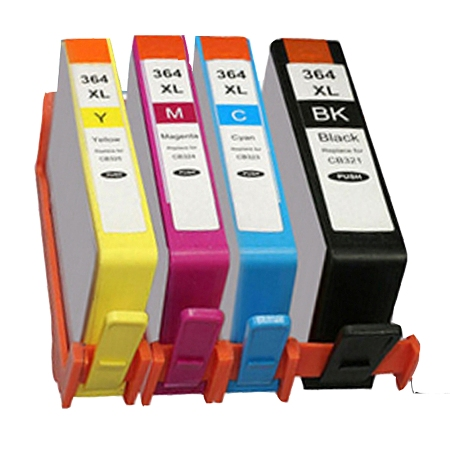364-Cartouche D'encre équivalent HP-364XL Compatible (HP364) PACK 4 COULEURS XL