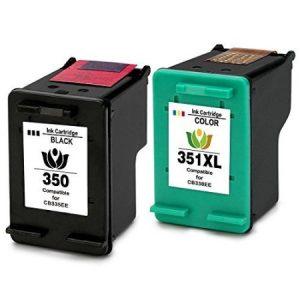 350/351 – Cartouche D'encre équivalent HP-350-351 Compatible (HP350  HP351)  NOIR Et TRICOLOR