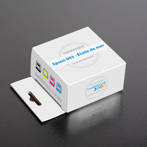 Consommable Équivalent Epson 603 XL - Étoile de mer - Pack 4 couleurs