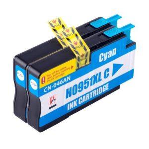 951 – 2 Cartouches D'encre équivalent HP-951XL CN046AE COMPATIBLE (HP951) CYAN