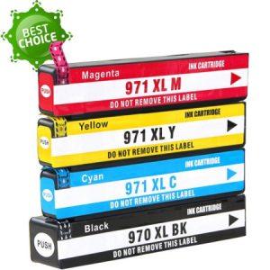 970/971 – Cartouche D'encre équivalent HP-970-971XL Compatible (HP970-971) Pack 4 Couleurs