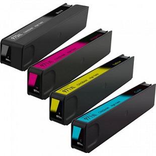 970 – 971 – Cartouche D'encre équivalent HP-970-971XL Compatible HP970-971 Pack 4 Couleurs