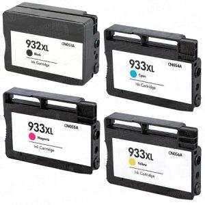 932 – Cartouche D'encre équivalent HP-932XL Compatible (HP932) Pack 4 Couleurs