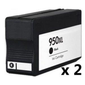 950 – 2 Cartouches D'encre équivalent HP-950XL CN045AE COMPATIBLE (HP950) NOIR