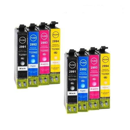 8 Cartouches D'encres Compatibles Epson T2996 – Fraise