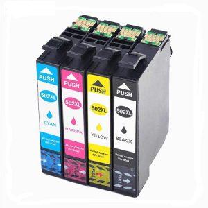 502-Cartouche D'encre équivalent EPSON 502 XL Compatible «série Jumelles» PACK 4 COULEURS