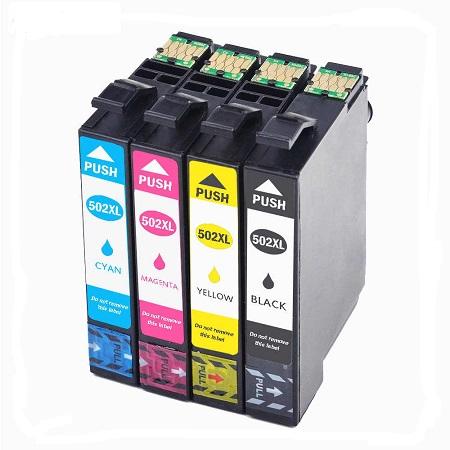 502 Cartouche D'encre équivalent Epson 502 XL Compatible Série Jumelles Pack 4 Couleurs